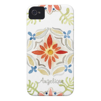 Watercolor Moroccan Sunset Vintage Personalized Case-Mate iPhone 4 Case