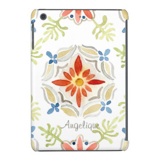 Watercolor Moroccan Sunset Vintage Personalized iPad Mini Case