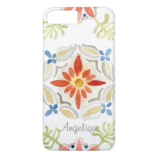 Watercolor Moroccan Sunset Vintage Personalized iPhone 7 Plus Case