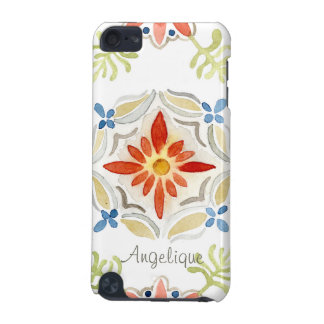 Watercolor Moroccan Sunset Vintage Personalized iPod Touch (5th Generation) Case