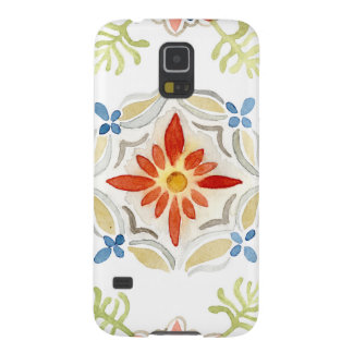 Watercolor Moroccan Sunset Vintage Tile Pattern Galaxy S5 Cover
