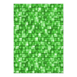 Watercolor Mosaic Squares Green Card