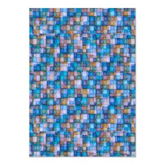 Watercolor Mosaic Squares Lavender & Blue Card
