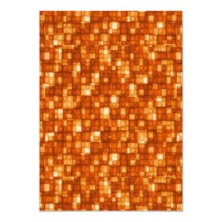 Watercolor Mosaic Squares Orange Card