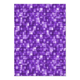 Watercolor Mosaic Squares Purple Card