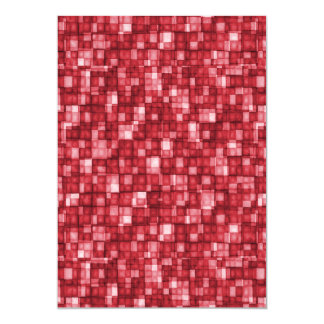 Watercolor Mosaic Squares Red Card
