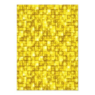 Watercolor Mosaic Squares Yellow Card