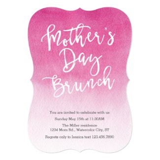 Watercolor Mother's Day Brunch Invitation