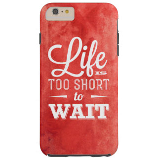 Watercolor motivational quote iPhone 6 Plus, Tough Tough iPhone 6 Plus Case