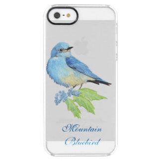 Watercolor Mountain Bluebird Blue Bird Art for the Clear iPhone SE/5/5s Case