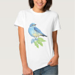 Watercolor Mountain Bluebird Blue Bird Art for the Shirt