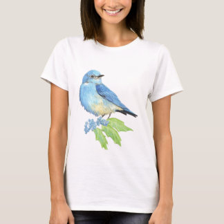 Watercolor Mountain Bluebird Blue Bird Art for the T-Shirt