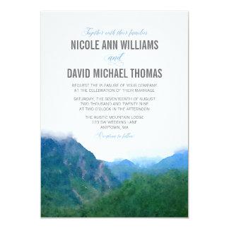 Watercolor Mountain Wedding Card
