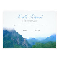 Watercolor Mountain Wedding RSVP Response Card