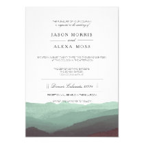 Watercolor Mountains | Elegant Wedding Card