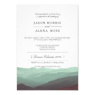 Watercolor Mountains | Elegant Wedding Card