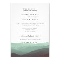 Watercolor Mountains | Elegant Wedding Invitation