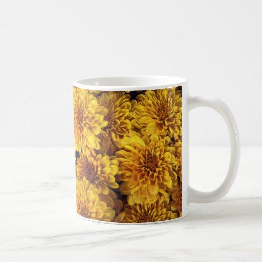 Watercolor mums coffee mug