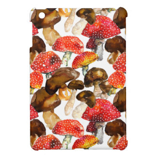 Watercolor mushrooms Cute fall pattern Case For The iPad Mini