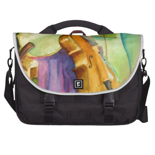 Watercolor Music Bag For Laptop