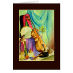 Watercolor Music Greeting Card