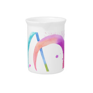 Watercolor Music Notes Beverage Pitchers