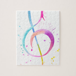 Watercolor Music Notes Jigsaw Puzzle