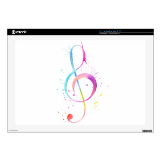 Watercolor Music Notes Skin For Laptop