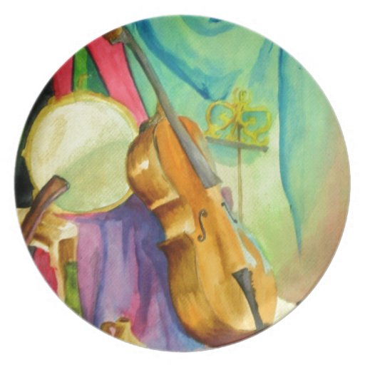 Watercolor Music Plate