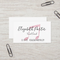 Watercolor Musical Notes Business Card