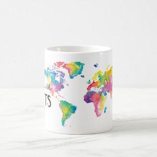 Watercolor My World by Moda Illustrated Coffee Mug