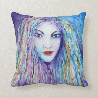 Watercolor Mythical Girl Cushion