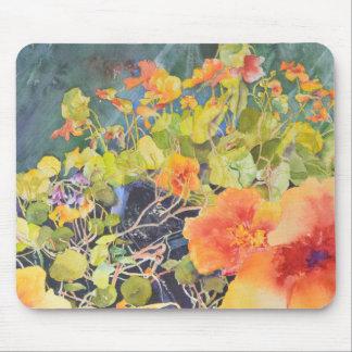 Watercolor Nasturtiums Mouse Pad