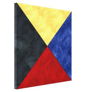 Watercolor Nautical Signal Maritime Flag Canvas Print