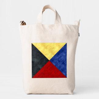 Watercolor Nautical Signal Maritime Flag Duck Bag
