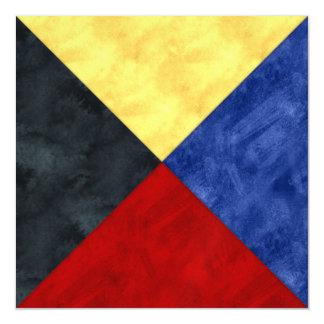 Watercolor Nautical Signal Maritime Flag Magnetic Card
