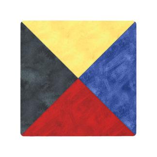Watercolor Nautical Signal Maritime Flag Metal Print