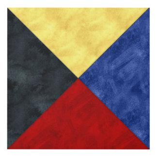 Watercolor Nautical Signal Maritime Flag Panel Wall Art