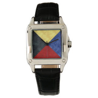 Watercolor Nautical Signal Maritime Flag Wrist Watch