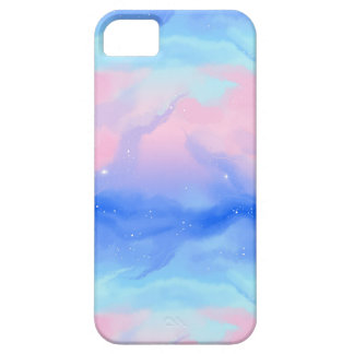 Watercolor Nebula Pink & Blue Galaxy Space iPhone SE/5/5s Case