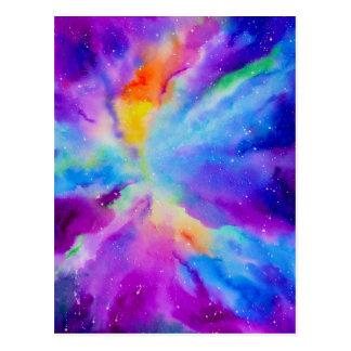 Watercolor Nebula Postcard