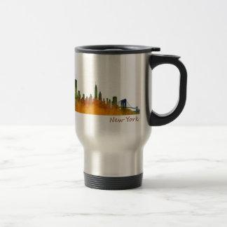 Watercolor New York Skyline Travel Mug
