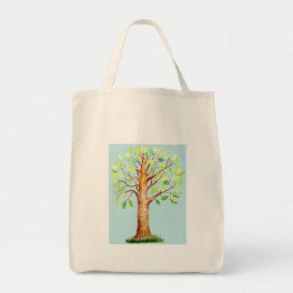 Watercolor Oak Tree Bag