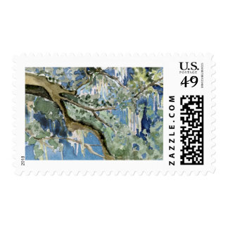 Watercolor Oak Tree Postage