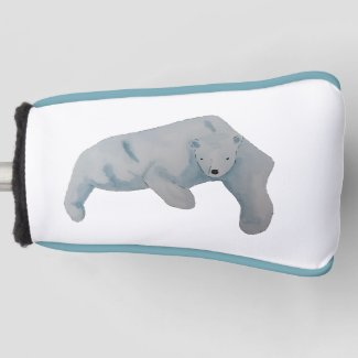 Watercolor Ocean Animal Polar Bear Golf Head Cover