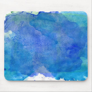 Watercolor ocean mouse pad