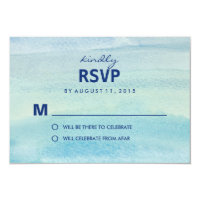 Watercolor Ocean RSVP /Wedding Response Cards