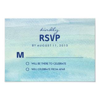 Watercolor Ocean RSVP /Wedding Response Cards