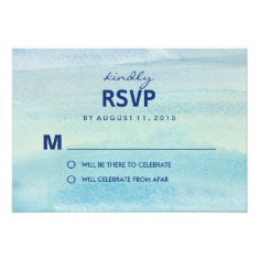 Watercolor Ocean RSVP /Wedding Response Cards Announcement