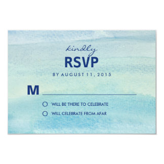 "Watercolor Ocean RSVP /Wedding Response Cards 3.5"" X 5"" Invitation Card"